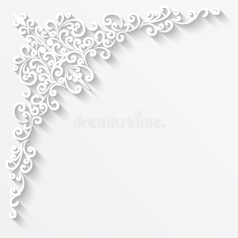 Paper corner royalty free illustration