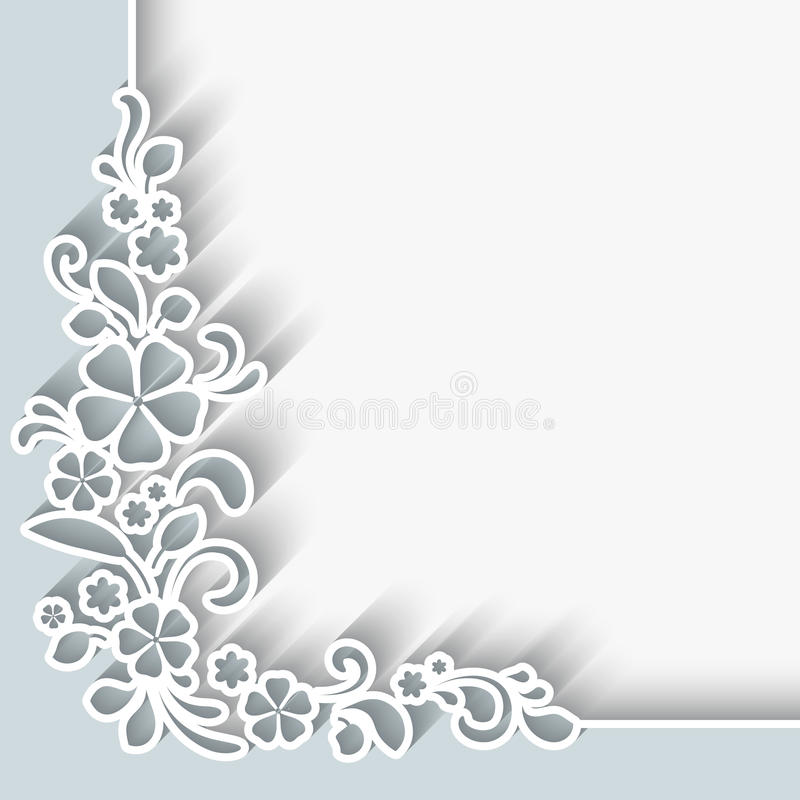 Paper corner background royalty free illustration