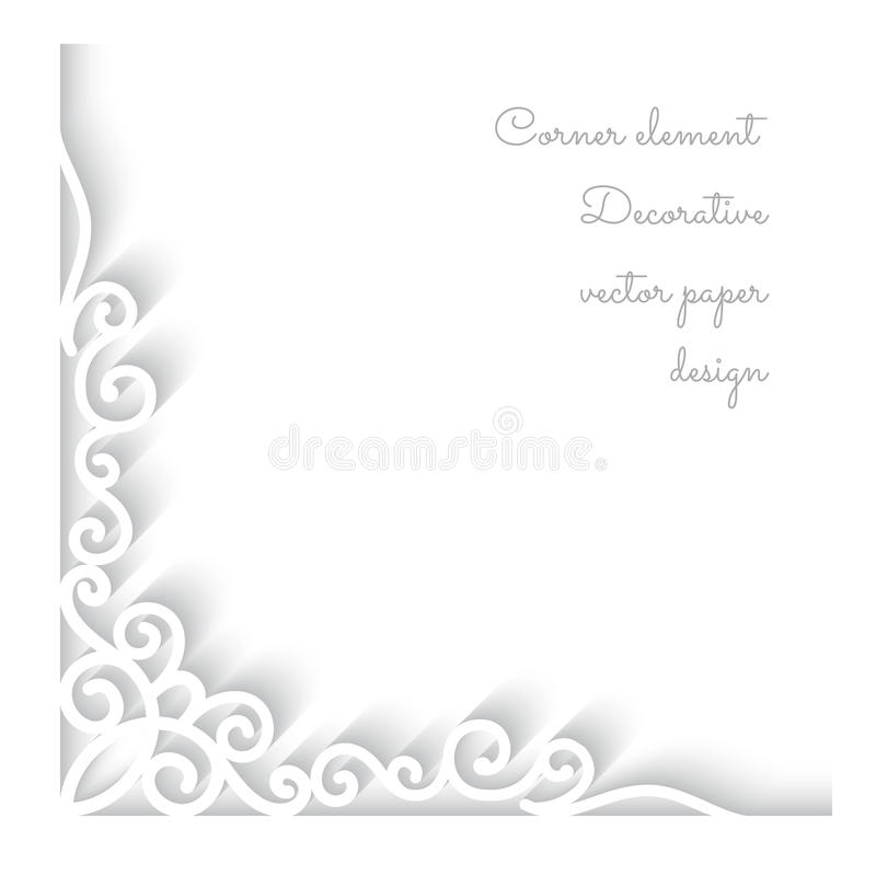 Free Paper Corner Ornament Royalty Free Stock Photo - 38422605