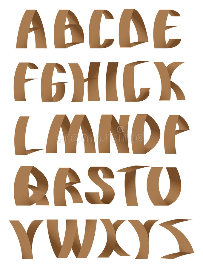Download Paper Crafting Alphabets Fonts Stock Vector - Image: 26573962