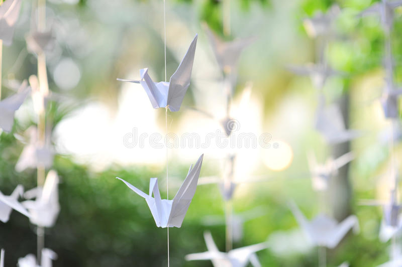 Paper crane royalty free stock photography