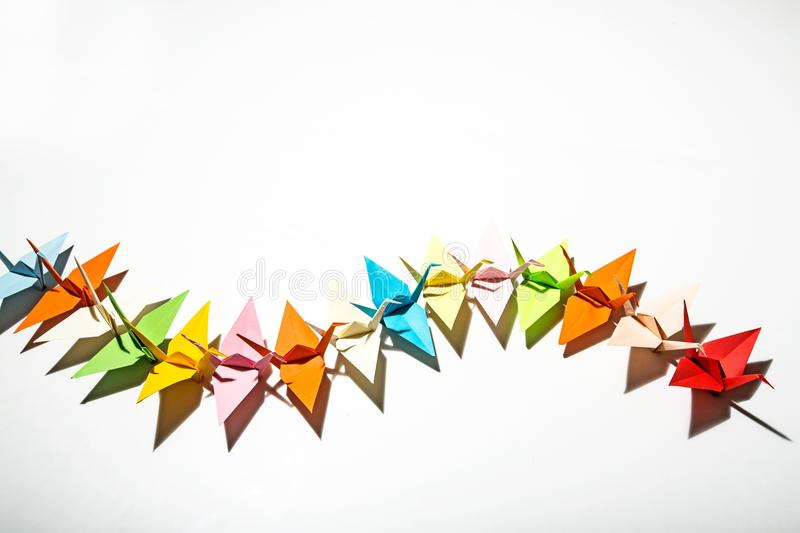 Paper Cranes Origami royalty free stock photography