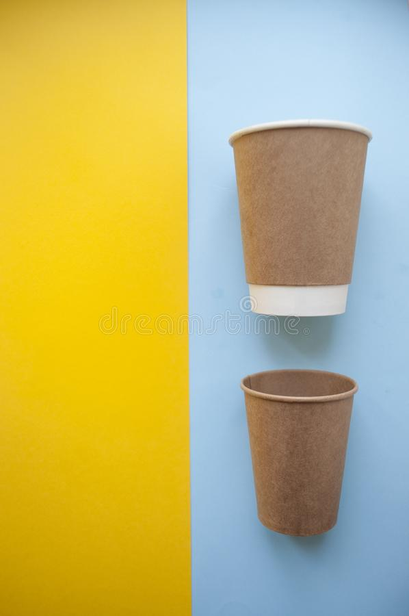Paper cup on bright background. royalty free stock photos
