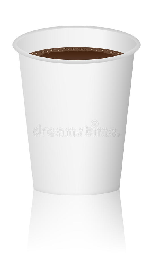 Download Paper cup with coffee stock vector. Image of beverage - 24552425