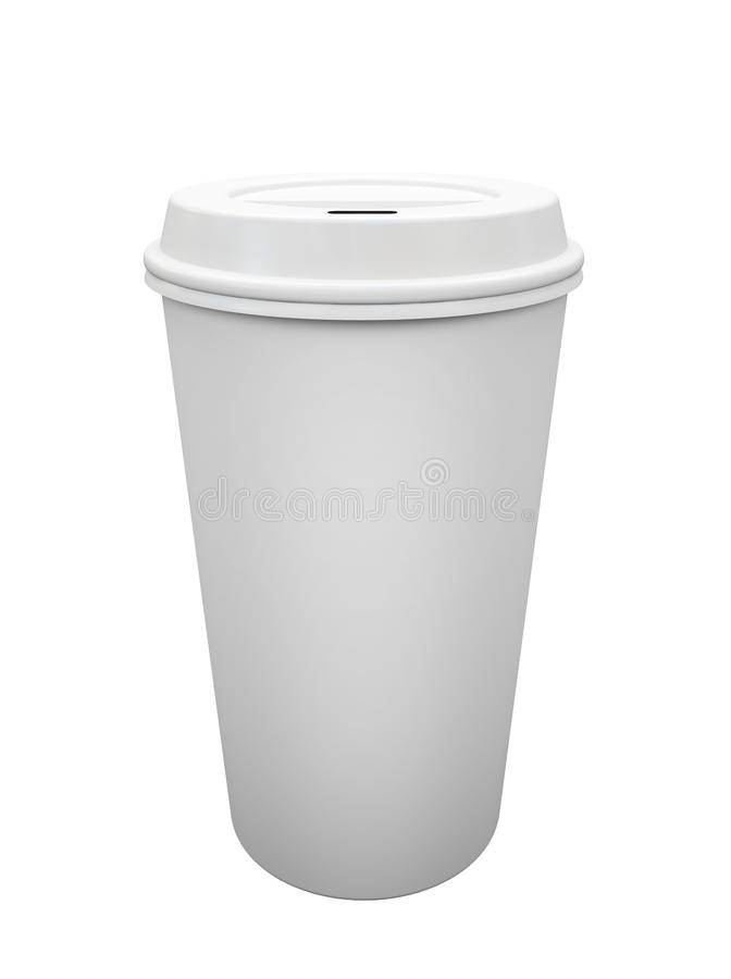 Download Paper cup of coffee stock illustration. Illustration of polystyrene - 27014217