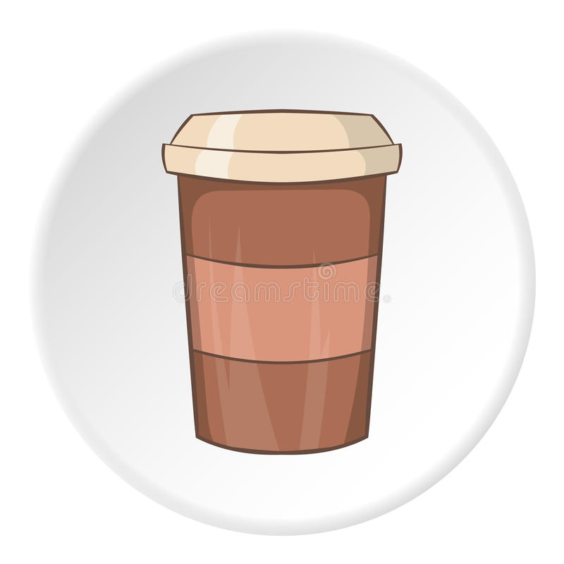 Paper cup for coffee icon, cartoon style royalty free illustration