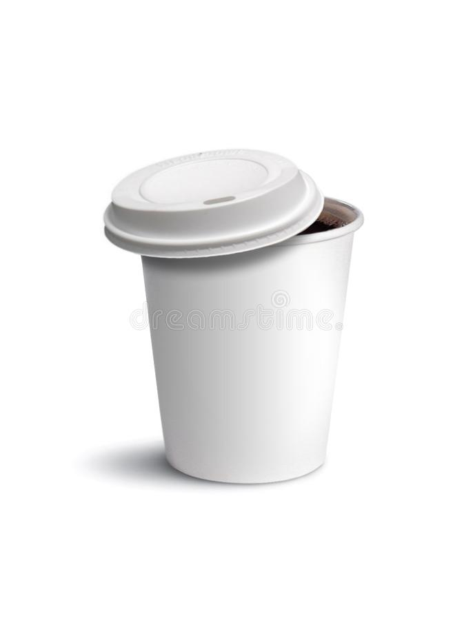 Download Paper cup coffee isolated stock photo. Image of plastic - 17609004