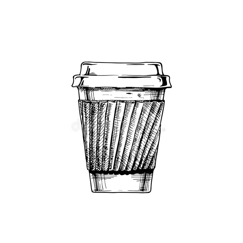 Illustration of paper cup vector illustration