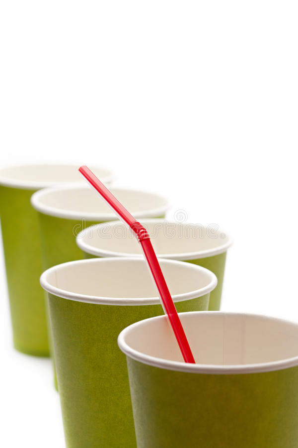 Download Paper cups stock image. Image of empty, party, green - 22159021
