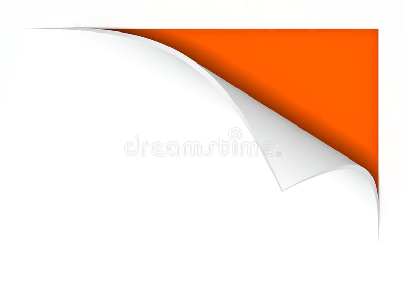 Paper with curl. 3d image stock illustration