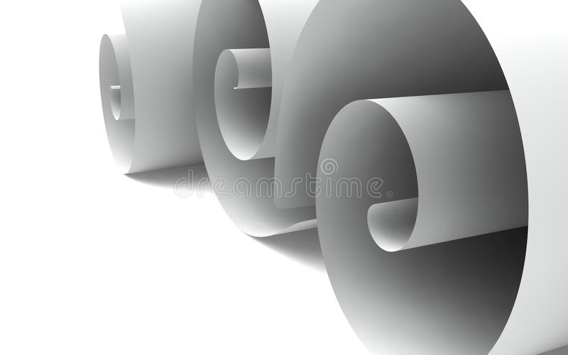 Download Paper Curled up stock illustration. Image of white, rolled - 18981803