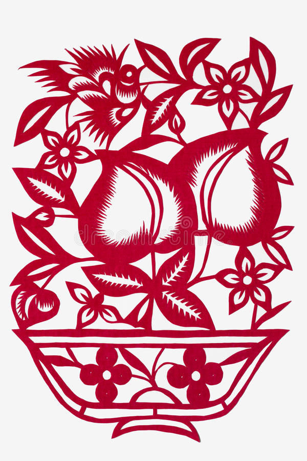 Download Paper-cut Art Of A Peach Stock Images - Image: 17777424