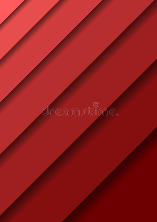 Paper cut banners with 3D abstract background with red layers  sheets one over the other diagonally and shadows. Papercut layout vector illustration