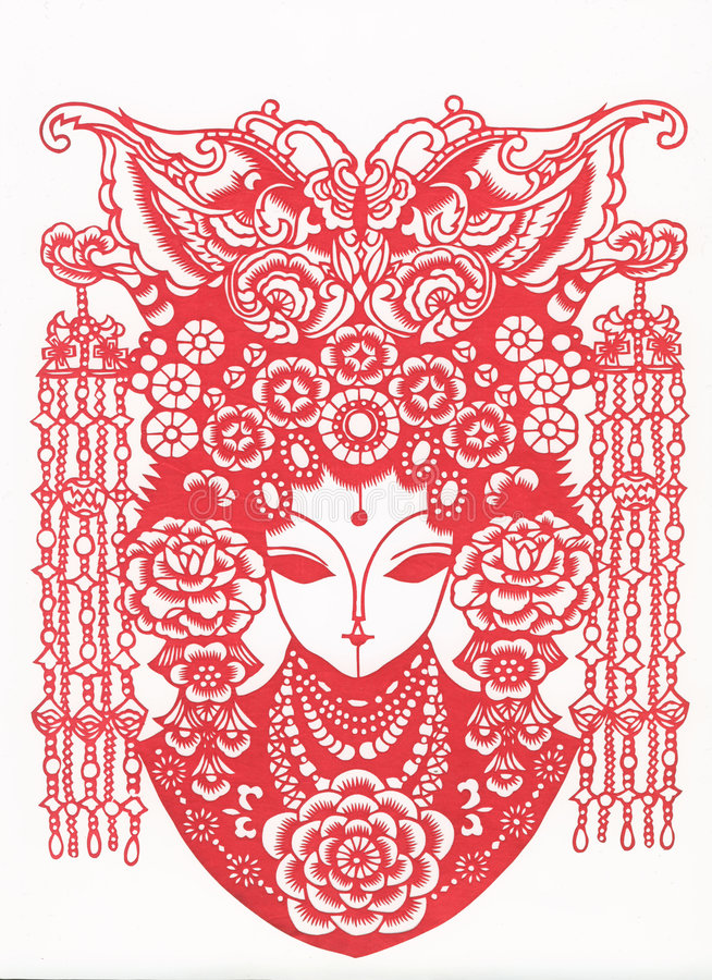 Paper-cut of chinese traditional pattern stock images