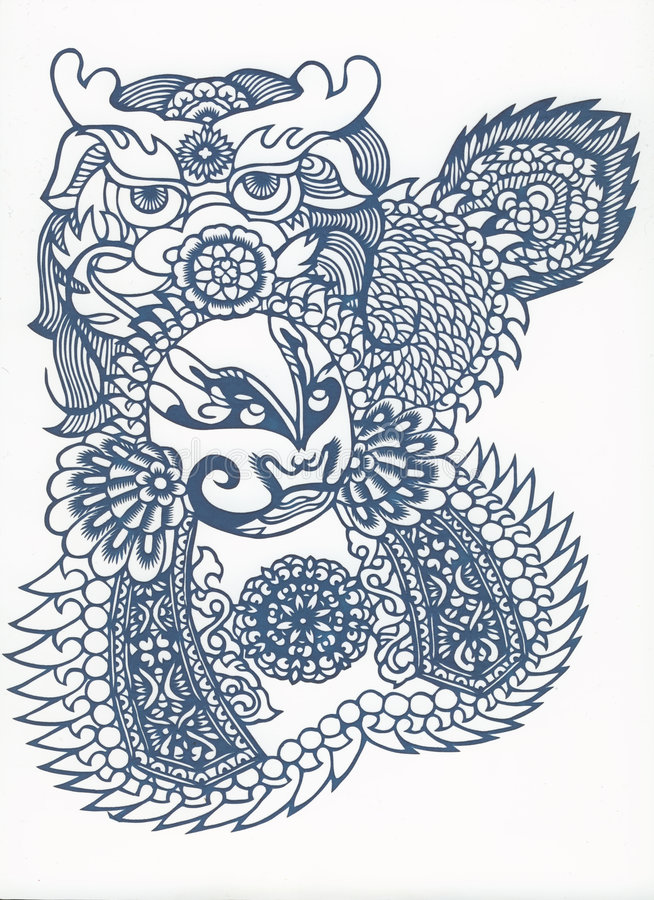 Paper-cut of chinese traditional pattern stock image
