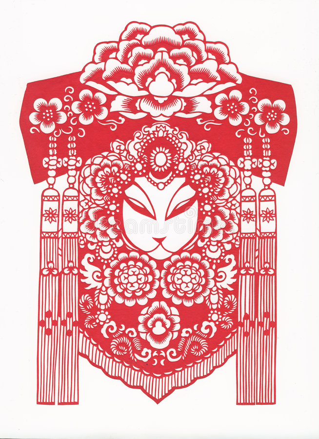Paper-cut of chinese traditional pattern royalty free stock photography