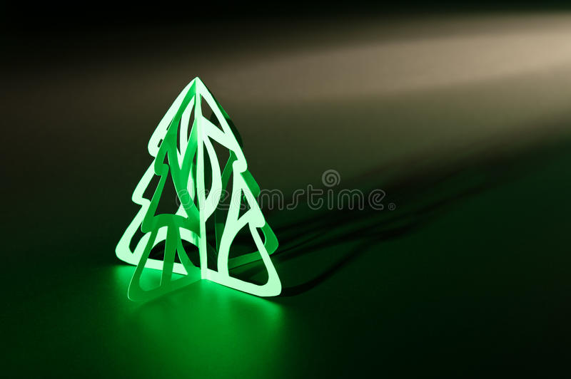 Paper cut Christmas tree royalty free stock image