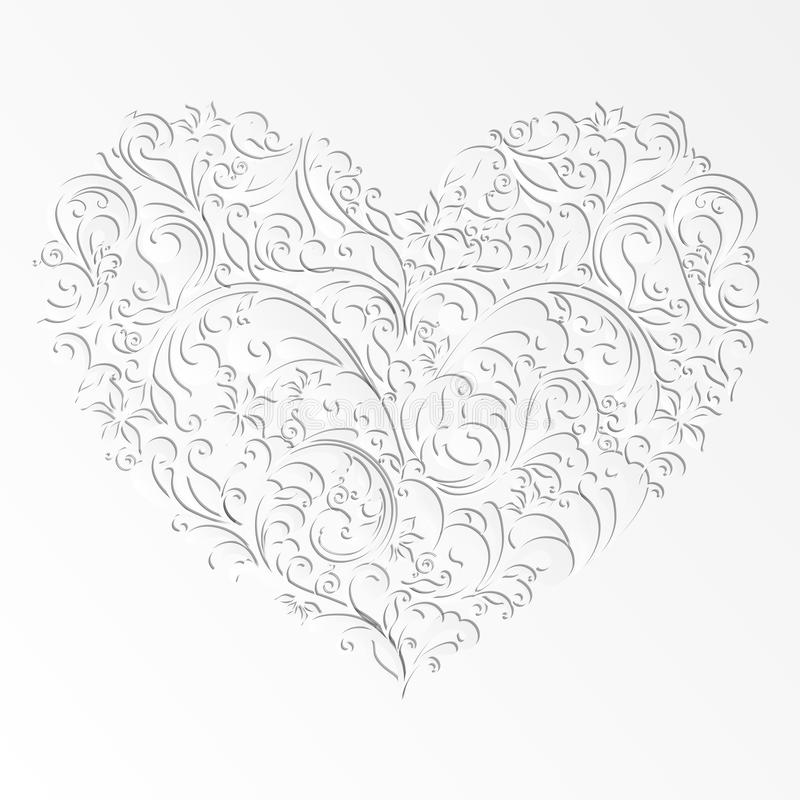 Paper Cut Design Isolated Heart Of Element Stock Image