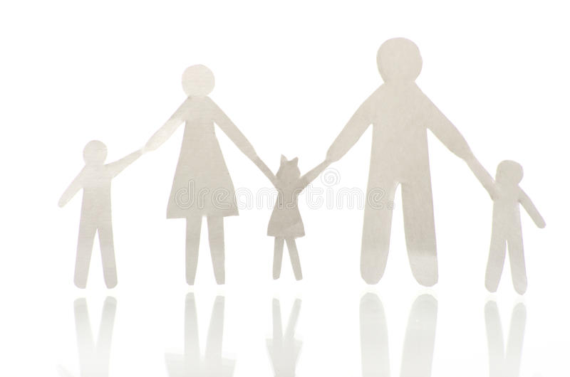 Download Paper cut family stock photo. Image of business, chain - 24608674