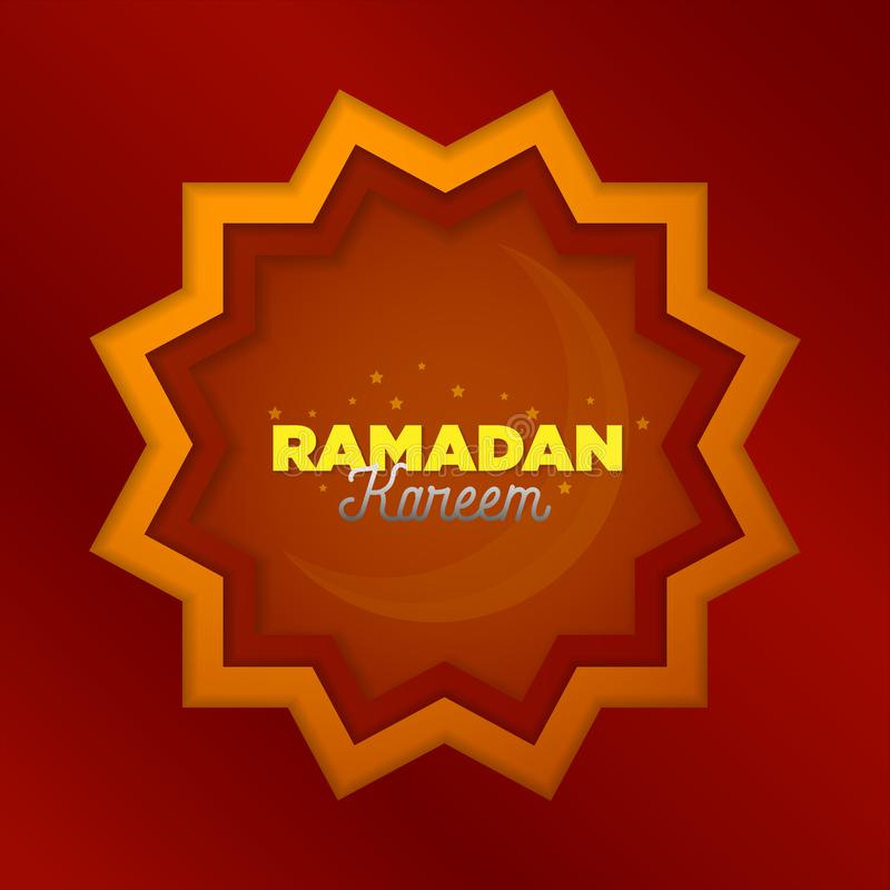 Paper cut islamic flat modern design holidays ramadan_06. Paper cut islamic flat modern design holidays ramadan flat design in maroon color stock illustration