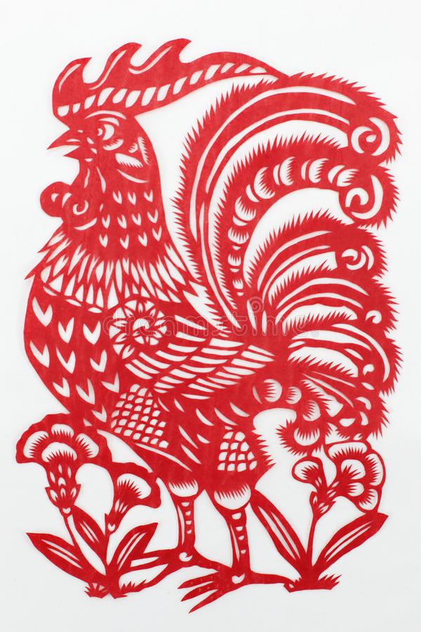 China red paper cutting stock photography