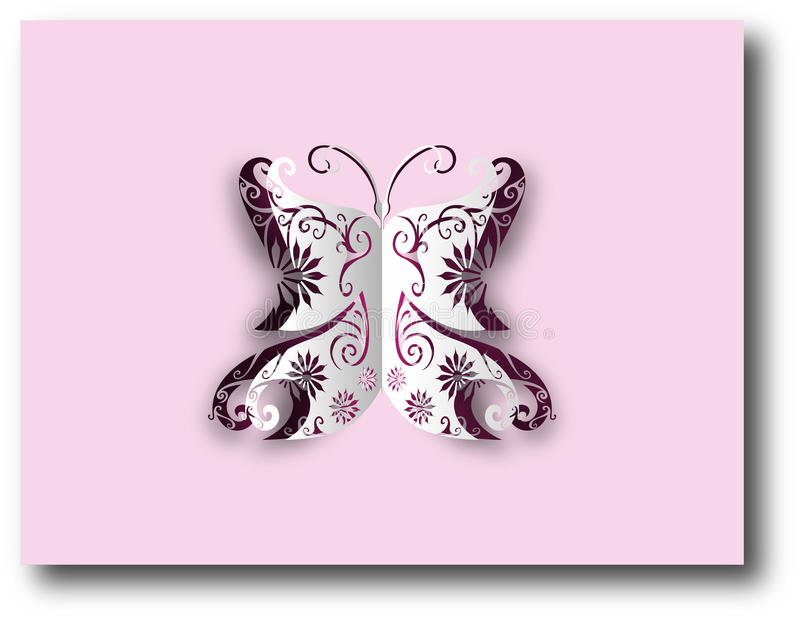 Paper cut-out butterfly vector illustration