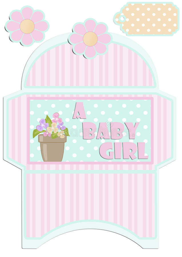 Paper Cut Out Kids Envelope And Tag For Birthday Or Baby Shower ...