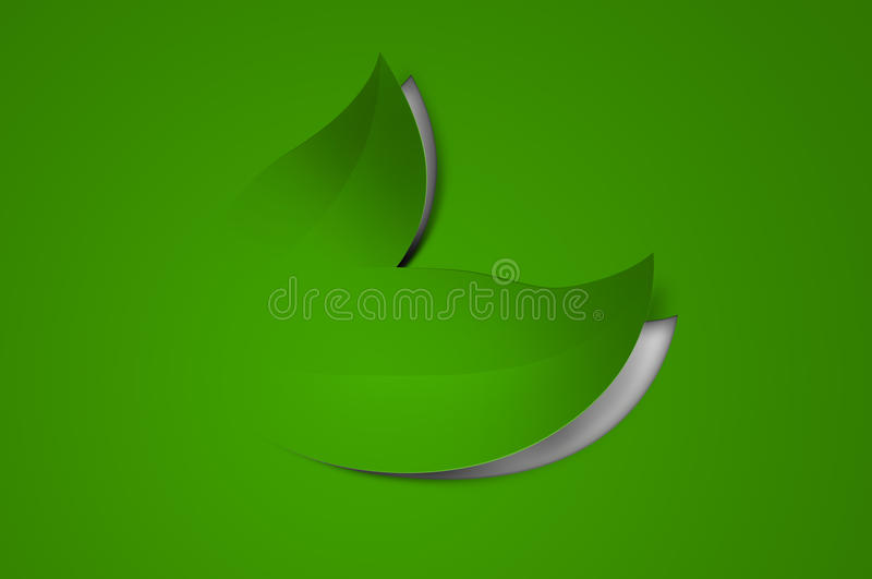Paper Cut-out Leaves Royalty Free Stock Photography