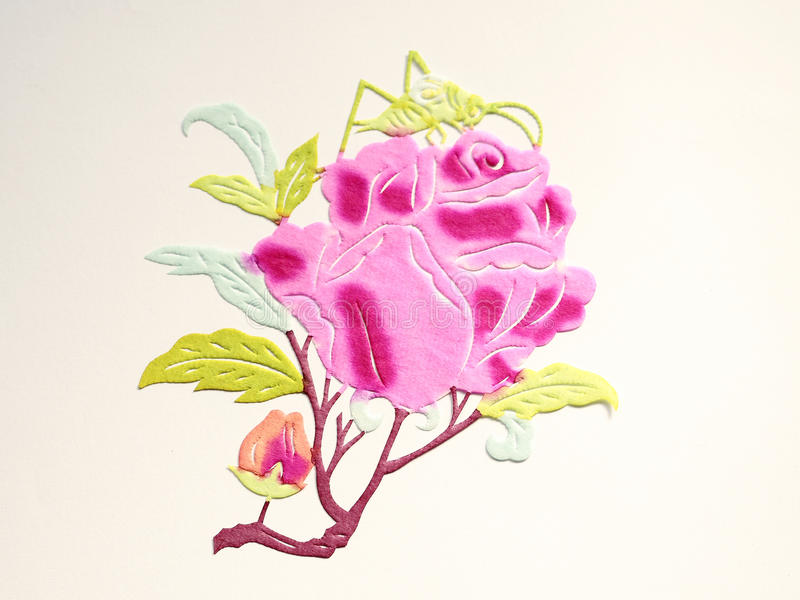 Paper-cut of rose royalty free illustration