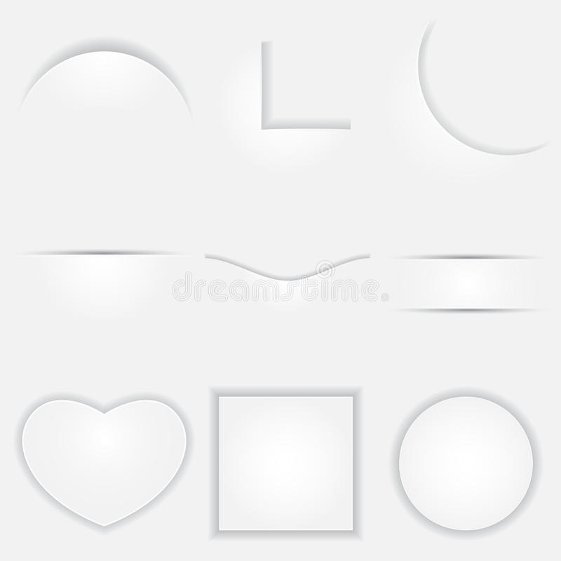 Download Paper Cut with Shadow stock vector. Image of concept - 24483355
