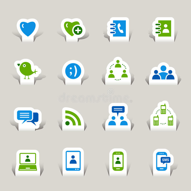 Download Paper Cut - Social Media Icons Stock Vector - Image: 27426770