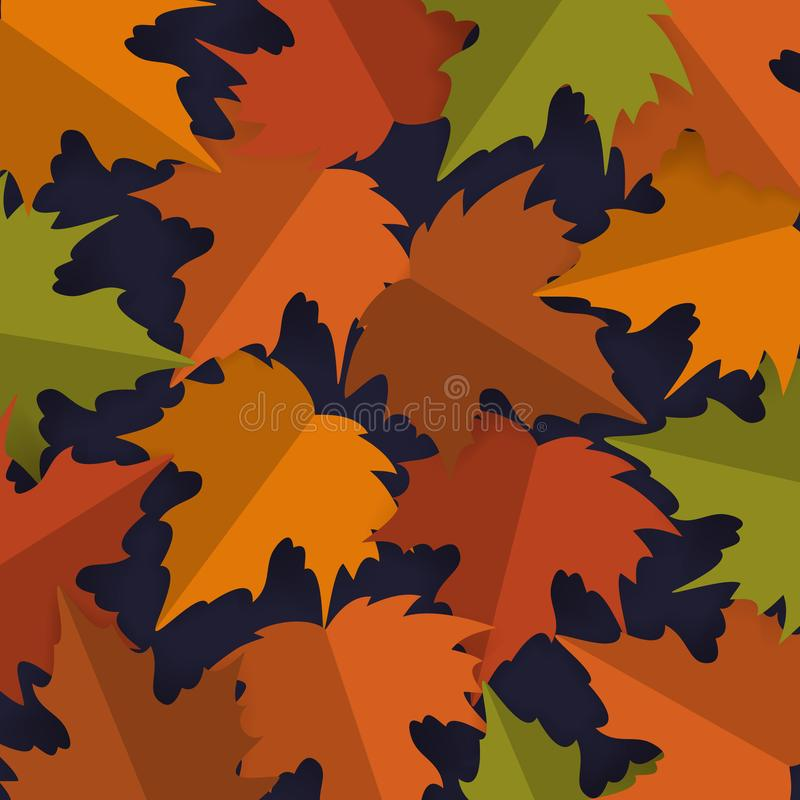Paper cut style maple leaves background, autumn fall thanksgiving banner vector royalty free illustration