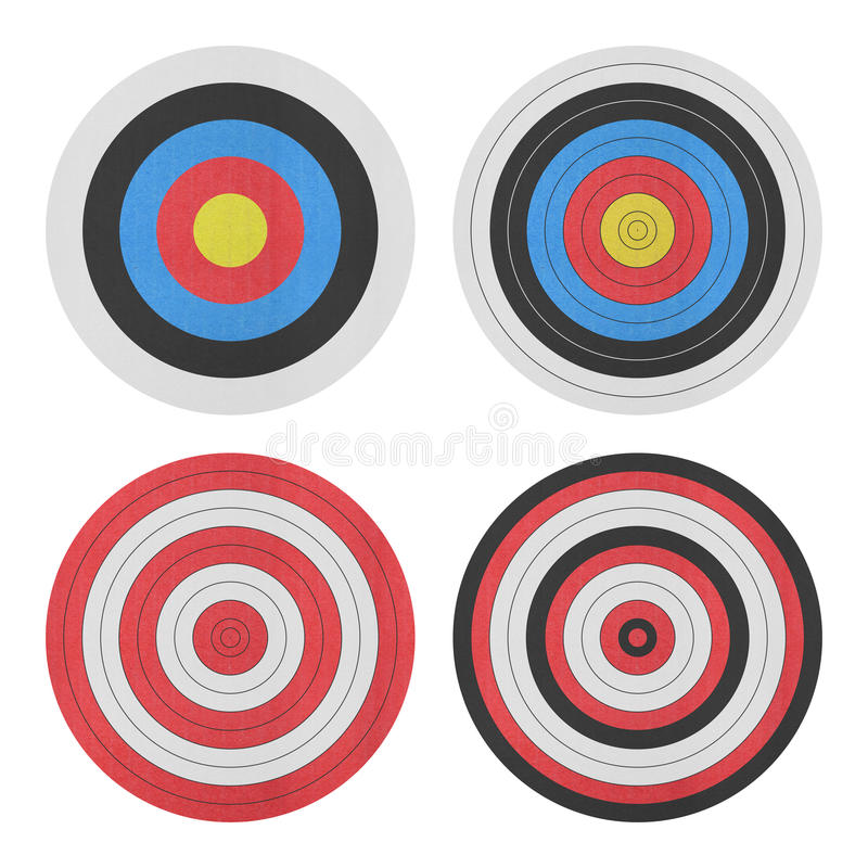 Paper cut of target icon for gun shooting sport and military on vector illustration