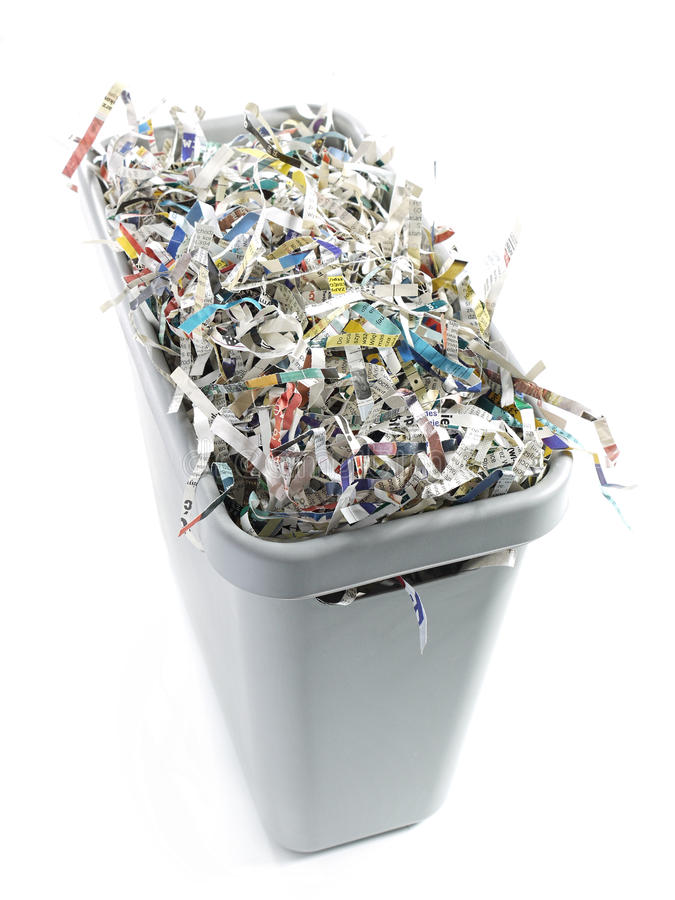 Download Paper cuttings stock photo. Image of shred, grey, waste - 23773160