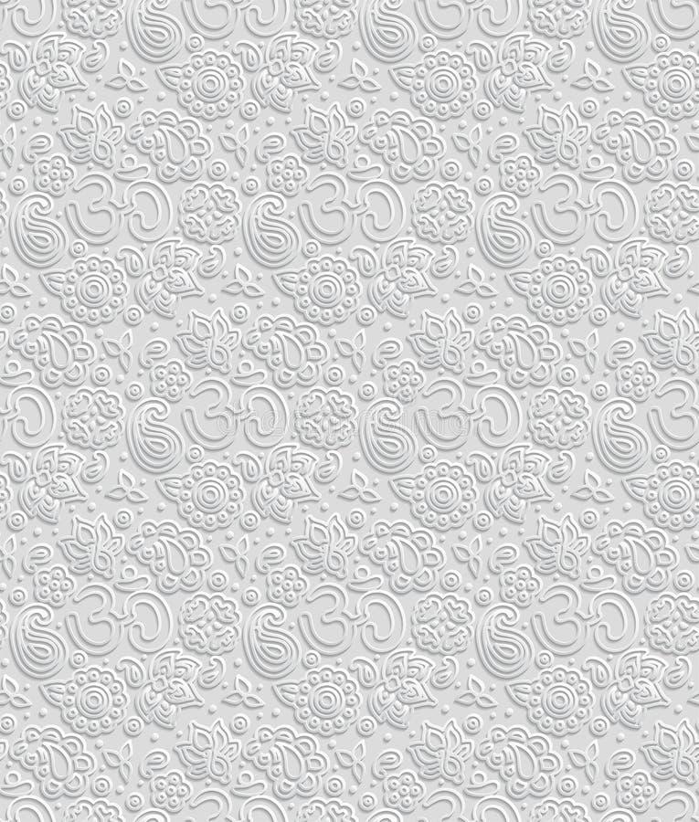 Paper 3D OM seamless pattern royalty free illustration