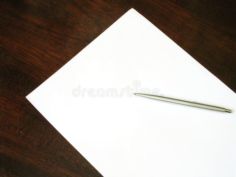 Paper on desk - 1 stock photography