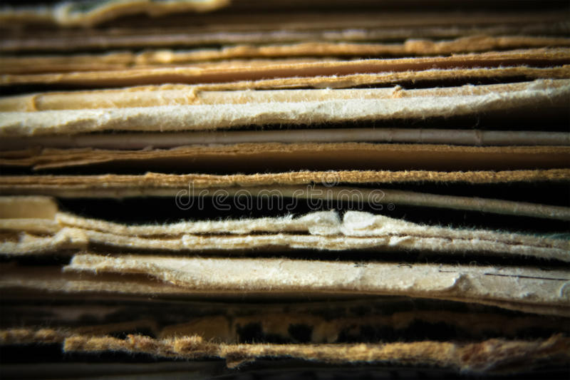 Paper documents stacked in archive royalty free stock photo