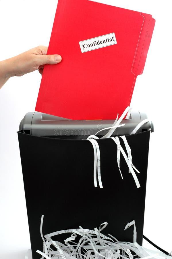 paper dokumentförstörare 2 arkivfoto