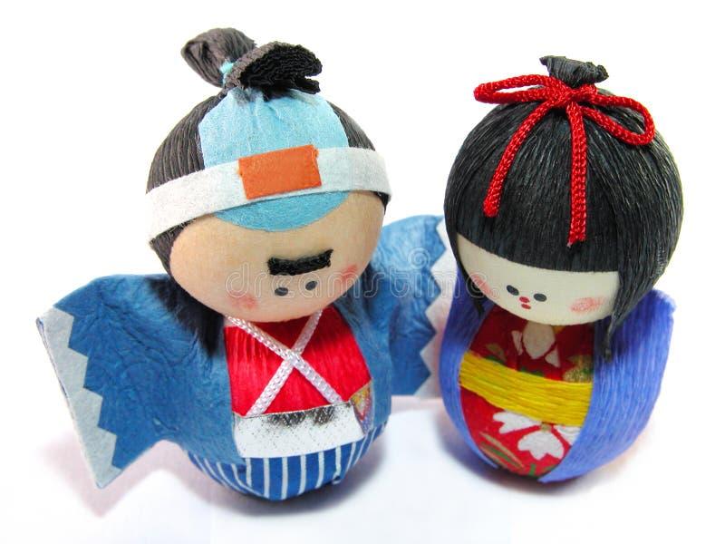 Paper dolls royalty free stock photos