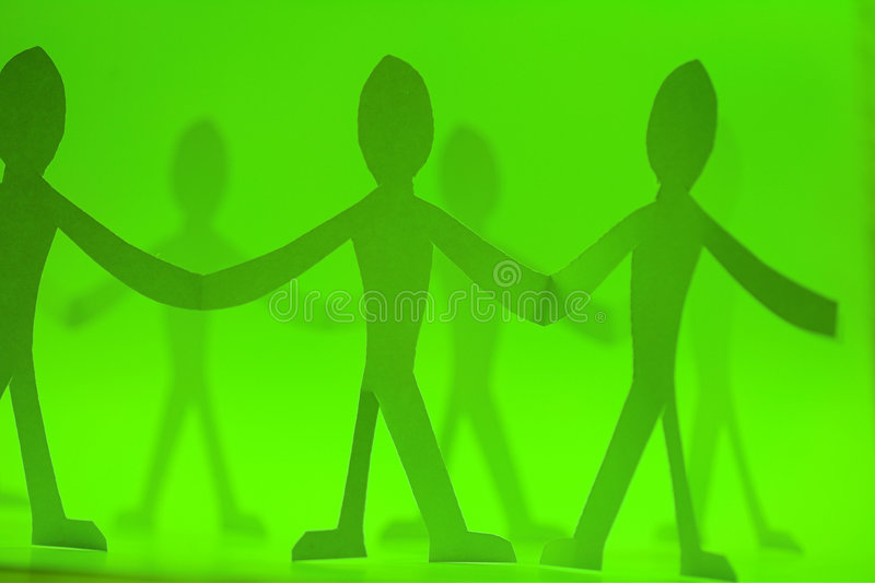 Paper dolls illustration royalty free stock photography