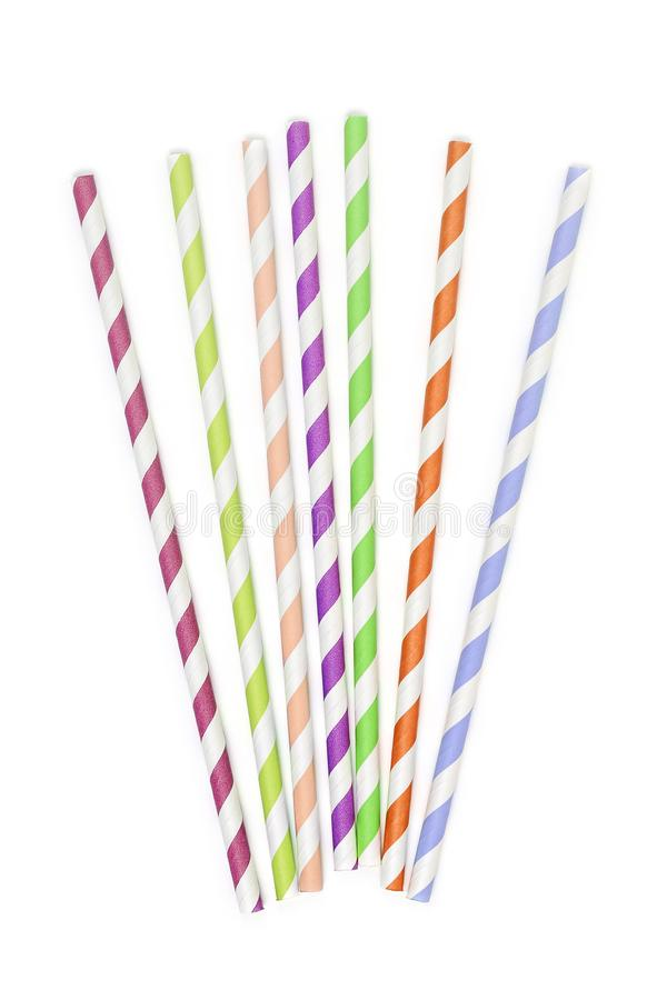 Paper drinking straws stock photography