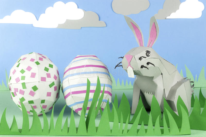 Download Paper Easter Bunny stock image. Image of tradition, scene - 29387471