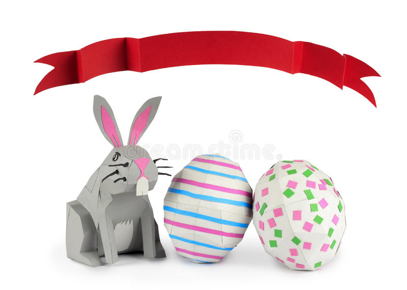 Download Paper Easter Bunny stock image. Image of tradition, background - 29387539