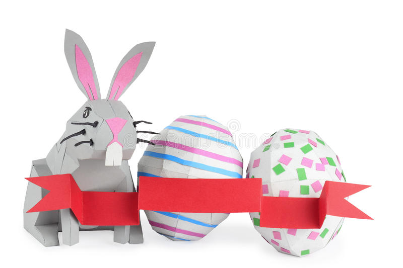 Paper Easter Bunny Royalty Free Stock Images