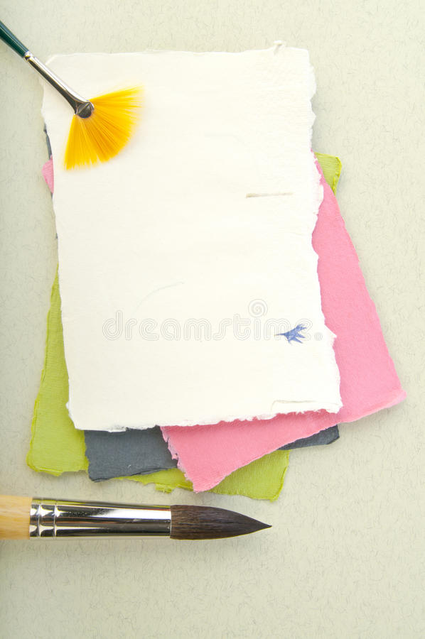Paper elements for card or scrap-booking. Different Paper elements for card or scrap-booking royalty free stock photography