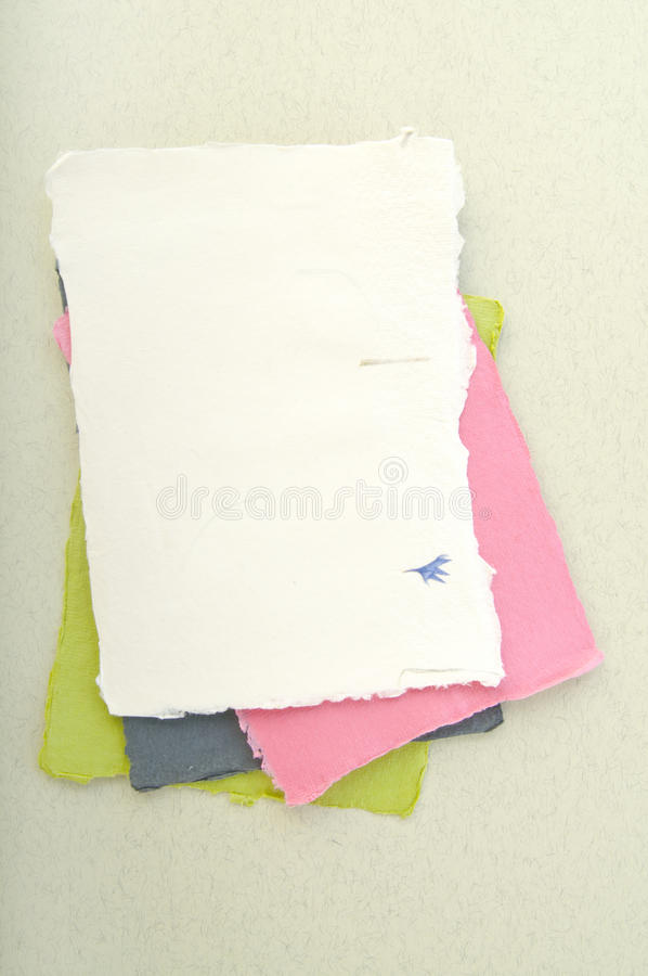 Paper elements for card or scrap-booking. Sheets of paper for card or scrap-booking stock image