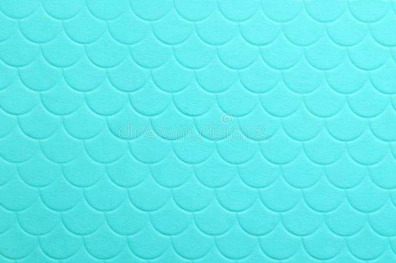 Paper embossing fish scales seamless texture. tiffany color background stock images