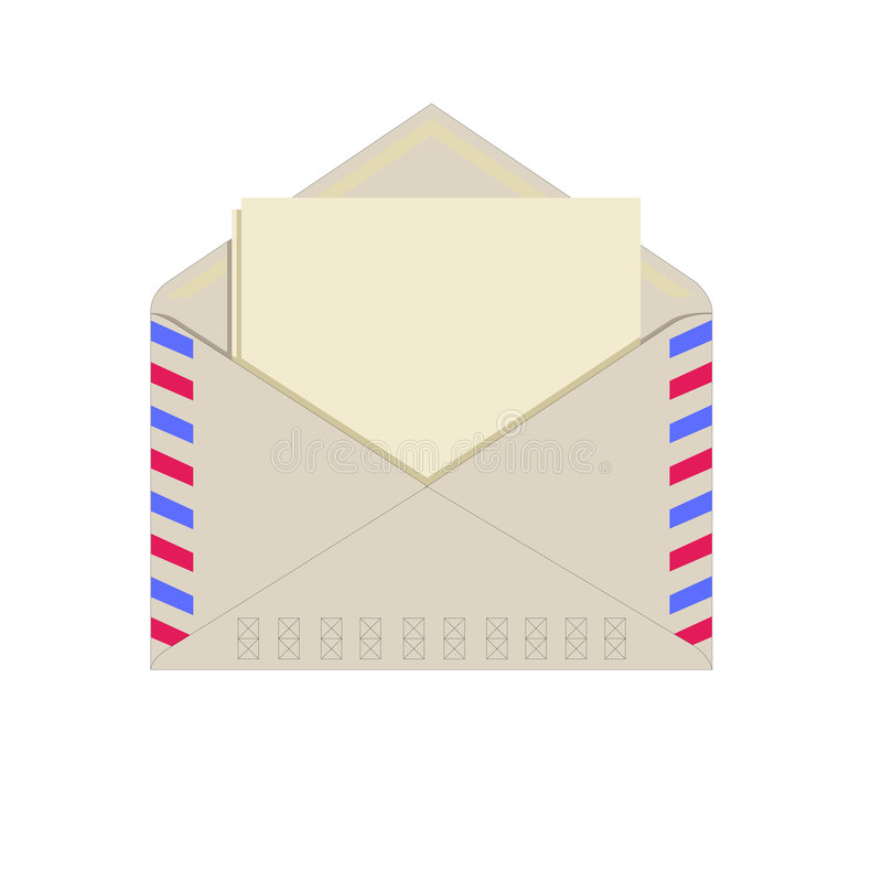 Paper in an envelope royalty free stock photos