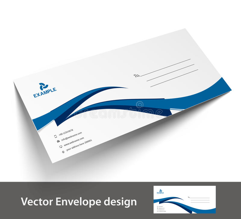 Paper envelope templates stock vector. Illustration of document ...