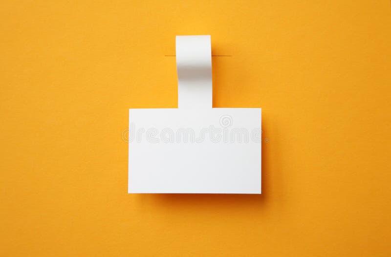 Paper etikett royaltyfria foton